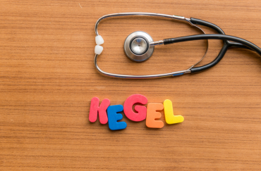 the word of 'kegel' with stethoscope